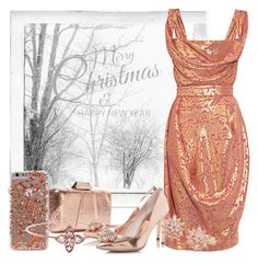 """Rose Gold"" by rochellechristine ❤ liked on Polyvore featuring Polaroid, KOTUR, Vivienne Westwood Red Label, Ted Baker, Nina and vintage"