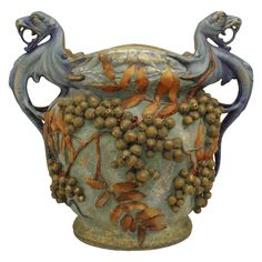 Monumental Austrian Flora and Fauna Jardiniere, circa 1900 | From a unique collection of antique and modern planters and jardinieres at https://www.1stdibs.com/furniture/building-garden/planters-jardinieres/
