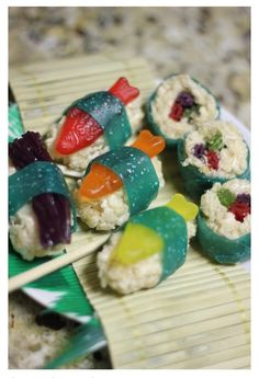 There's Sushi Rice Krispie Treats?!? Great For Kids!