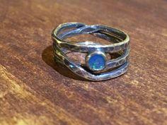 Sterling Silver & blue Opal birds nest ring Blue Opal, Hand Designs, Nest, Rings For Men, Handmade Jewelry, Silver Rings, Copper, Birds, Sterling Silver