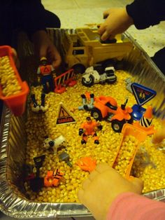 construction sensory box