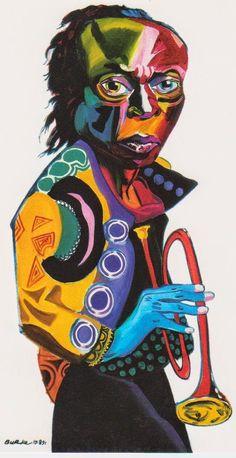 Miles Davis - Jazz on a Sunday Jazz Artists, Jazz Musicians, Jazz Poster, Smooth Jazz, Miles Davis, Soul Art, Jazz Blues, African American Art, Art Music