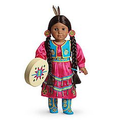 "American Girl Doll ""Kaya"" Captures Authentically Native Culture - - - Children's toy teaches about a thriving community before European settlement. The award-winning American Girl Doll line was created by Pleasant Company. American Girl Outfits, American Doll Clothes, Ag Doll Clothes, Doll Clothes Patterns, American Girls, Doll Patterns, Kaya American Girl Doll, Babies Clothes, Pattern Ideas"