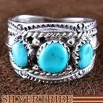 Navajo Indian Jewelry Turquoise Genuine Sterling Silver Ring