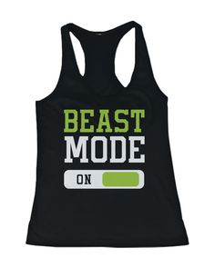Beast Mode Women's Workout Tanktops Work Out Tanks Fitness Clothing Gym Shirts