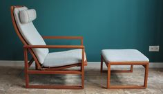 Borge Mogensen 2254 highback lounge chair, 2248 ottoman, produced by Federicia, available at coroto.de