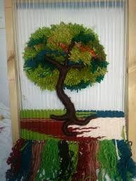 Resultado de imagen para www.como trabajar con telares artesanales decorativos Weaving Art, Tapestry Weaving, Loom Weaving, Loom Knitting, Knitting Patterns, Rya Rug, Fabric Art, Handmade Crafts, Textile Art