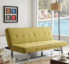 Corvus Kiwi Green Fabric Futon Sleeper Sofa for sale online Best Sleeper Sofa, Modern Sleeper Sofa, Best Sofa, Sleeper Sofas, Sofa Design, Living Room Furniture, Home Furniture, Furniture Outlet, Online Furniture