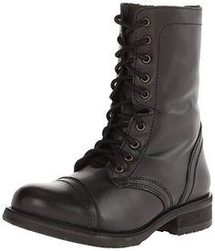 De Steve Madden Women Troopa 2.0 Combat Boot: Amazon.com.mx: Ropa, Zapatos y Accesorios