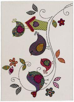 Alfombra Kinder Pajaritos - Alfombra infantil con bonitos dibujos que haran la…
