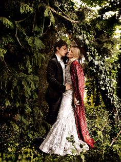 Romance ruled as fashion's favorite wild child tied the knot with musician Jamie Hince in rock-'n'-roll Gatsby style.