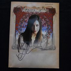 Vanessa Carlton Be Not Nobody Piano Sheet Music Chords Book Signed Autographed Vanessa Carlton, Music Chords, Piano Sheet Music, My Favorite Music, Acoustic Guitar, Music Artists, Musicals, How To Look Better, Songs