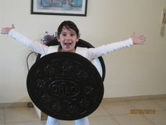 Fan Yael W. from Israel dressed up as an Oreo cookie. So cute!