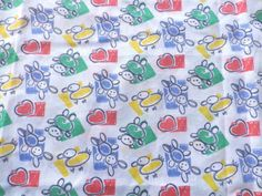 Light-Weight-Poly-Cotton-Fabric-Childrens-Bears-Ducks-Hearts
