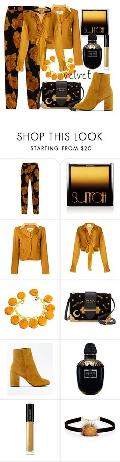 """""""Longing for sun"""" by subvilli on Polyvore featuring Gucci, Surratt, MM6 Maison Margiela, BY. Bonnie Young, Prada, New Look, Alexander McQueen, Illamasqua, Jules Smith and velvet"""