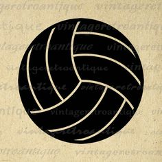 Digital Printable Volleyball Image Sports by VintageRetroAntique