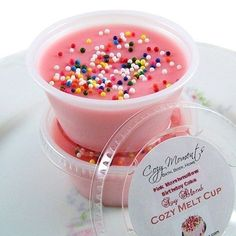 Smells Sooo Good Pink Marshmallow Birthday Cake Scented Soy Blend Melt By CozyMoments 275