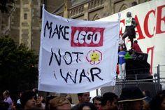 Make Lego, not war!