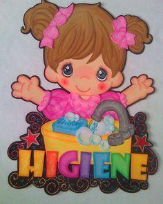 Letrero de Higiene para aula de lactantes | Fomiart Foam Crafts, Preschool Crafts, Crafts To Make, Crafts For Kids, Godly Play, Girly Cakes, Decorate Notebook, School Decorations, Scrapbook Embellishments