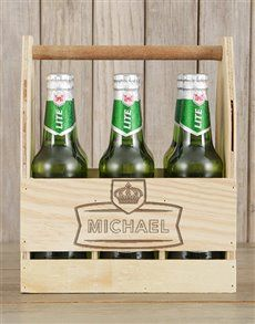 gifts: Personalised Stand Out Castle Beer Caddy! Pink Happy Birthday, Happy Birthday Candles, Man Crates, Beer Caddy, Unicorn Balloon, Valentines Day For Him, Flower Delivery Service, Lucky To Have You, Beer Gifts
