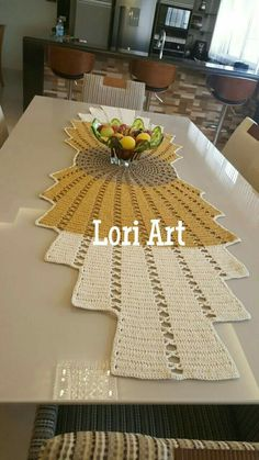 Cream Crochet Table Runner Cotton Table Runner Off-WhiteTable Cloth Table Decoration Center Piece Lace Table Runner Home Décor Diy Crafts Crochet, Crochet Home, Crochet Table Runner, Crochet Tablecloth, Lace Doilies, Crochet Doilies, Granny Square Crochet Pattern, Crochet Patterns, Knitting Patterns