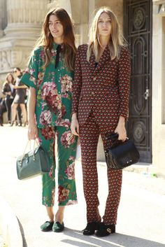 Spring Outfits: 15 Modern Ways to Wear Florals | Go BOLD in matching suit separates