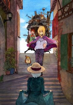 Howl's moving castle. Hauru & Sophie :)