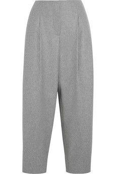 Acne Studios Murol Raw wool-blend felt wide-leg pants   NET-A-PORTER