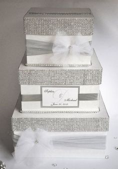 Bling Wedding Cake - Three tier 10, 8, 6 red velvet cake with cream cheese filling, covered in Satin Ice fondant. Description from pinterest.com. I searched for this on bing.com/images