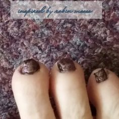 Day 73 toenail envy crackle inspired by robin moses