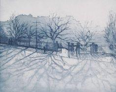 John Heywood: Evening Shadows from Princes Street, Edinburgh