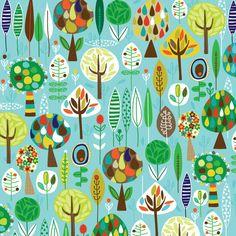 Forest just because pattern art, tree illustration и tree de