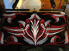 Custom pinstriped PURSE hand painted hot rod by vixentattoo, $99.99