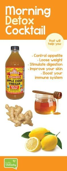 The Healthy Wonders of Apple Cider Vinegar and how it can help you loose weight, ease your digestion, balance your pH, have a healthier skin, and more! The Healthy Wonders of Apple Cider Vinegar! Detox Drinks, Healthy Drinks, Detox Juices, Healthy Juices, Acv Drinks, Healthy Food, Beverages, Detox Recipes, Healthy Recipes