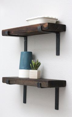 Floating Shelves With Lip Hand Forged Rustic Metal Shelf Brackets  Open Shelves And Th