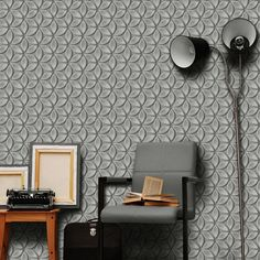 Juniper Geometric Petals Wallpaper Grey / Silver Debona 6160 Silver Textured Wallpaper, Gray Background, Wall Lights, Grey, Pattern, Home Decor, Gray, Appliques, Decoration Home