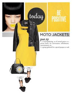 """""""After Dark: Moto Jackets"""" by drn57 ❤ liked on Polyvore featuring H&M, Aquazzura, Plein Sud, Kate Spade and motojackets"""
