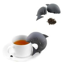 Cute Silicone Shark Infuser Tea Leaf Strainer Herbal Spice Filter Diffuser GU