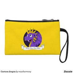 Cartoon dragon wristlet purses