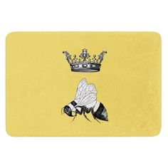 East Urban Home Queen Bee by Catherine Holcombe Bath Mat