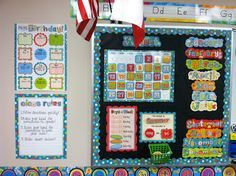 Classroom using Dots on Turquoise