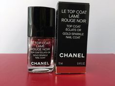 Chanel Le Top Coat LAMÉ Rouge Noir GOLD Sparkle LIMITED EDITION • New In Box #CHANEL