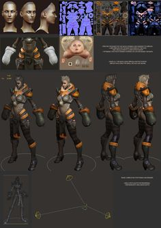 """Mecha Girl - Lowpoly_by grassetti_from ZBrushCentral, """"Mecha Girl - Lowpoly"""". _點開有該主題其他的圖片。"""