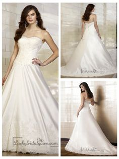 Elegant A-line Sweetheart Lace Vintage Wedding Dresses