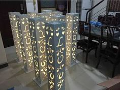 Image result for lighted columns for weddings