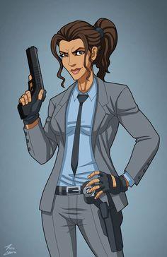Renee Montoya commission by phil-cho on DeviantArt Dc Comics Characters, Female Characters, Movie Characters, Gotham City, Marvel Dc, Mundo Comic, Detective Comics, Dc Universe, Batman Universe
