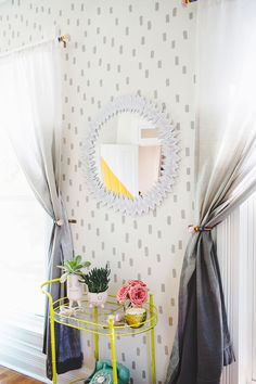 I tend to forget about them, but mirrors really are wonderful additions to the category of wall...