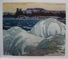 A.J.CASSON group of seven SIGNED Ice Hummocks LTD