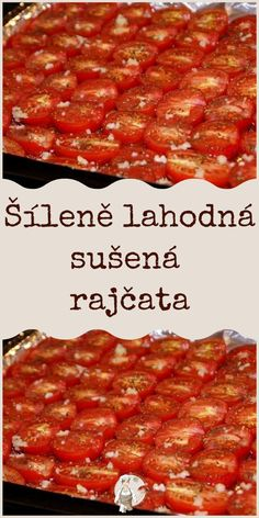 Šíleně lahodná sušená rajčata Pepperoni, Food And Drink, Easy Meals, Pizza, Homemade, Baking, Dart Frogs, Healthy, Pet Tips