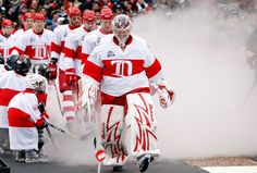 Red Wings. Love the winter classic jerseys